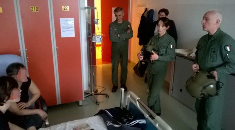 Il 5° Rigel visita il Reparto pediatrico dell'ospedale di Treviso