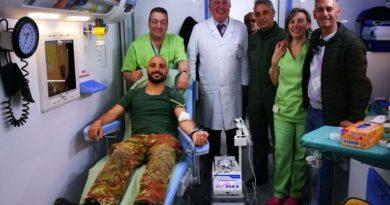 I militari 4° Altair di Bolzano donano il sangue all'ASL di Carbonia