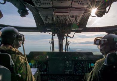 Elicotteri dell'Esercito alla ricerca di una persona scomparsa