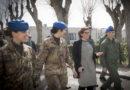 Il Ministro della Difesa Elisabetta Trenta al CAAE di Viterbo